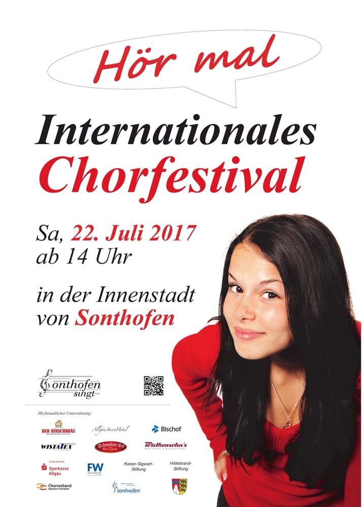 Plakat Internationales Chorfestival 2017